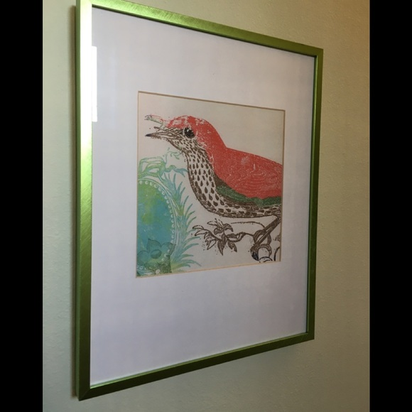 Ikea Wall Art Frame Boho Bird On Branch Poshmark